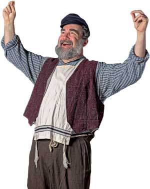 Tevye from Plaza'a production of Fiddler on the Roof