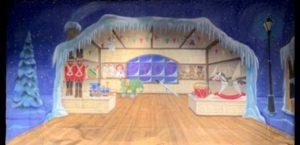 Toy Shop Interior Backdrop