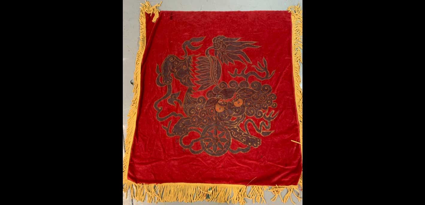 "545 RED / GOLD TAPESTRY 5'-0"" X 5'-0"""