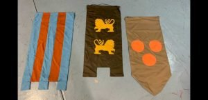 """547 CAMELOT CASTLE BANNERS (3 BANNERS) 1'-8"""" X 3'-7"""" (EACH BANNER)"""