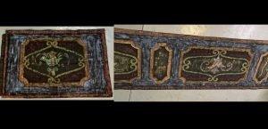 "551 PEACOCK TAPSTRY AND PLATFORM MASKING 2'-8"" x 4'-0 (Tapestry) & 3'-6"" x 15'-6"" (Masking)"