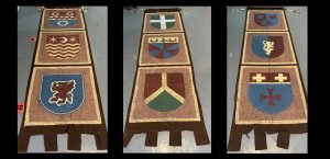 3 Medieval Banners (Camelot) 4 x 15